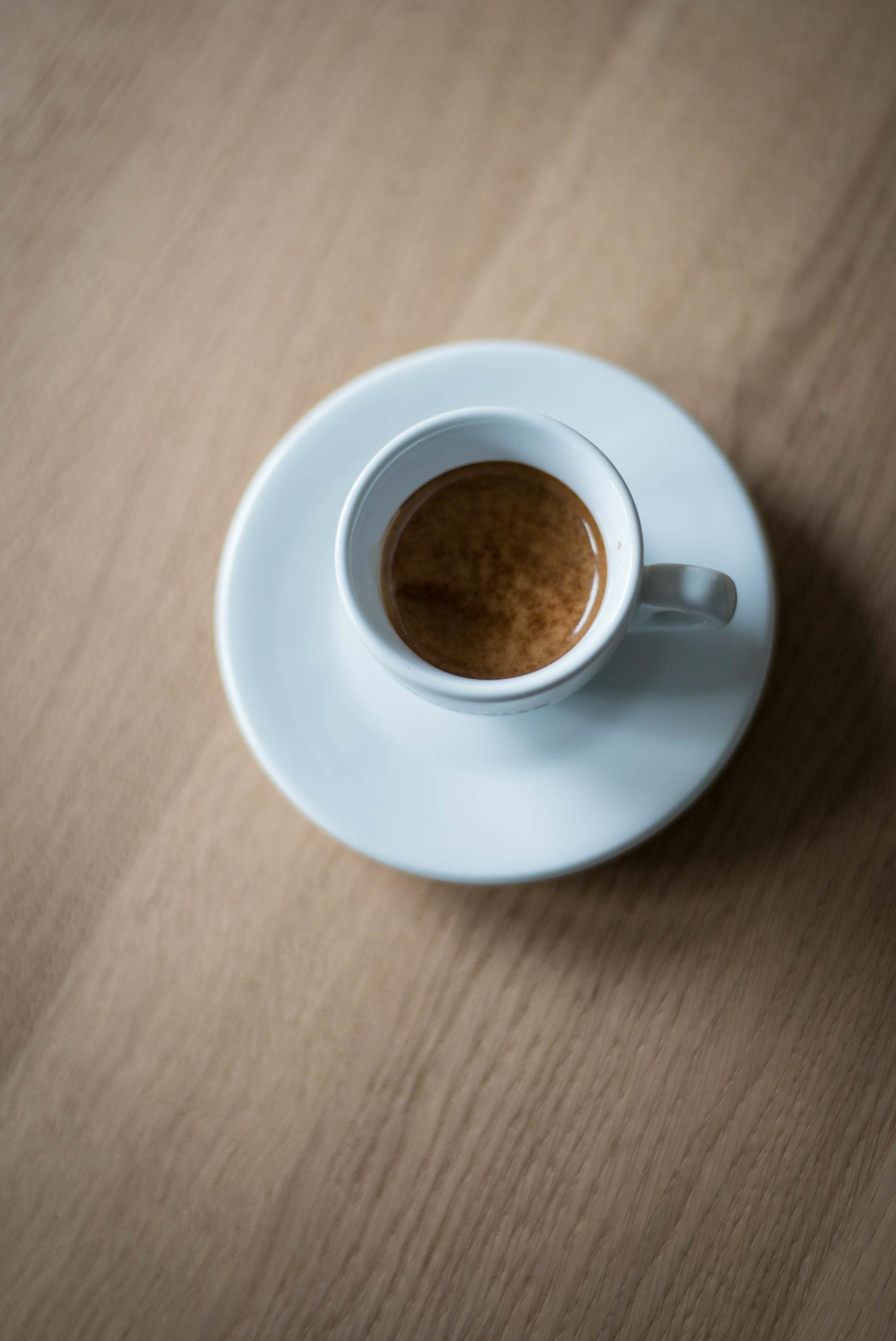 gemalen koffie voor espressomachine
